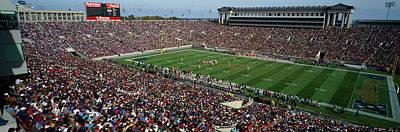 High Angle View Of A Football Stadium Art Print