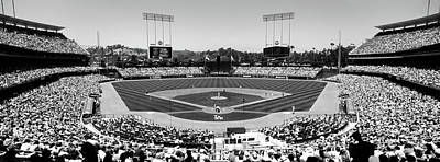 Dodger Stadium Photograph - High Angle View Of Spectators Watching by Panoramic Images