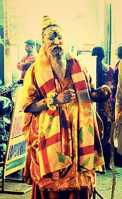 Scenic Photograph - Hindu Saint  by Girish J