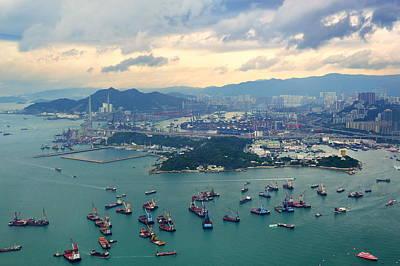 Photograph - Hong Kong Aerial View by Songquan Deng