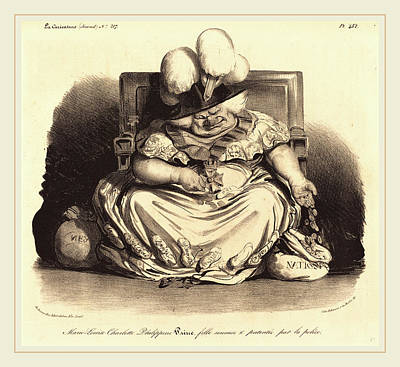 Marie-louise Drawing - Honoré Daumier French, 1808-1879 by Litz Collection