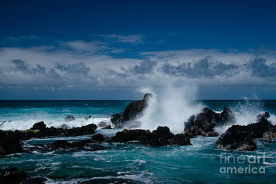 Hookipa Maui North Shore Hawaii Print by Sharon Mau