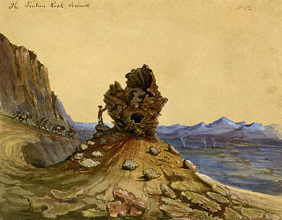 Sightseeing Drawing - Iceland, 1862 by Granger