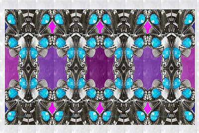Painting - Imitation Jewellery Graphic Design Decorative Patterns Navinjoshi Rights Managed Images Graphic Desi by Navin Joshi