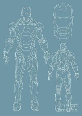 Digital Art - Iron Man by Caio Caldas