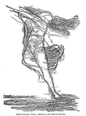 Isadora Duncan Drawing - Isadora Duncan (1877-1927) by Granger