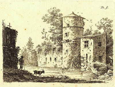 Water Mill Drawing - Jean-jacques De Boissieu, French 1736-1810 by Litz Collection