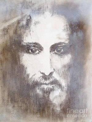 Jesus Christ Shroud Of Turin Art Print by Elena Markina