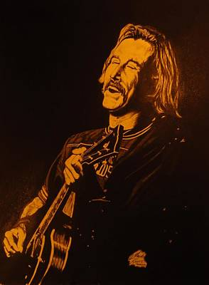 Buffet Drawing - Jimmy Buffet 1975 by Charles Rogers
