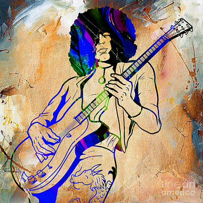 Led Zeppelin Mixed Media - Jimmy Page Collection by Marvin Blaine