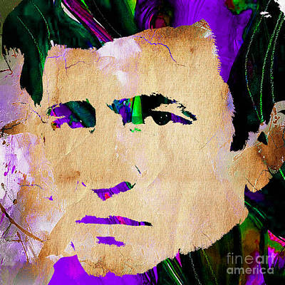 Johnny Cash Collection Art Print by Marvin Blaine