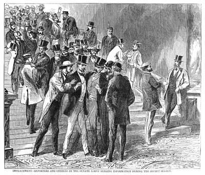 Democrat Painting - Johnson Impeachment, 1868 by Granger