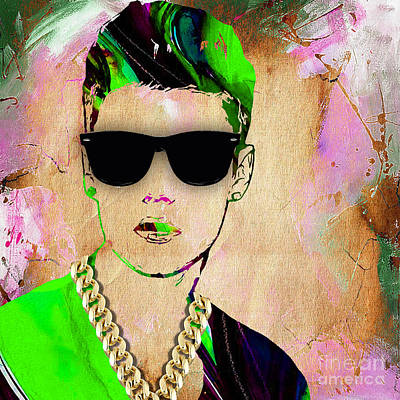 Bieber Mixed Media - Justin Bieber Collection by Marvin Blaine