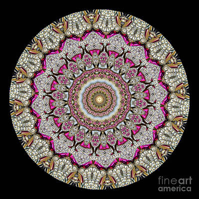 Kaleidoscope Colorful Jeweled Rhinestones Art Print