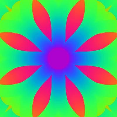 Royalty-Free and Rights-Managed Images - Kaleidoscope Drawing by Bruce Nutting