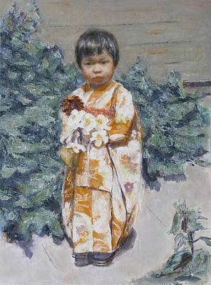 Painting - Kokeshi by Chisho Maas