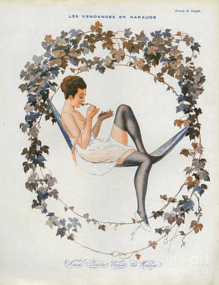 Nineteen-tens Drawing - La Vie Parisienne  1916 1910s France Cc by The Advertising Archives