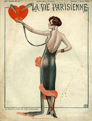 At Poster Drawing - La Vie Parisienne  1925  1920s France by The Advertising Archives
