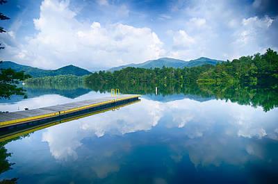 Photograph - Lake Santeetlah In Great Smoky Mountains North Carolina by Alex Grichenko