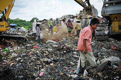 Dump Photograph - Landfill Scavenging by Matthew Oldfield