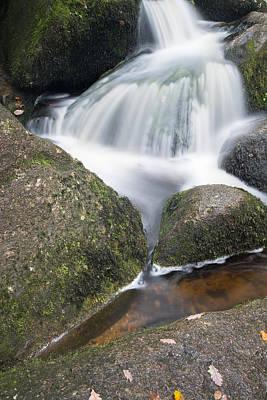 Becky Photograph - Landscape Of Becky Falls Waterfall In Dartmoor National Park Eng by Matthew Gibson