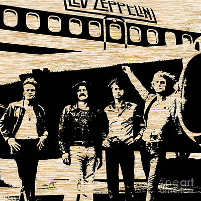 Led Zeppelin Art Print by Marvin Blaine