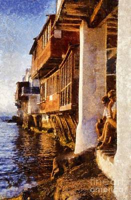 Painting - Little Venice During Sunset by George Atsametakis