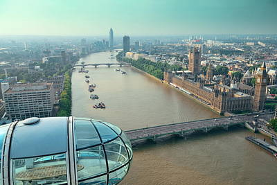 Photograph - London Eye by Songquan Deng