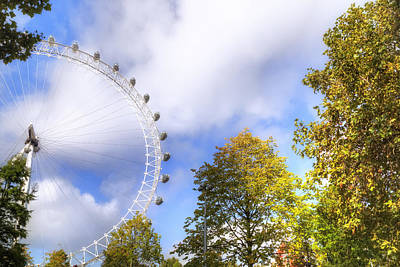 London Eye Photograph - London by Joana Kruse