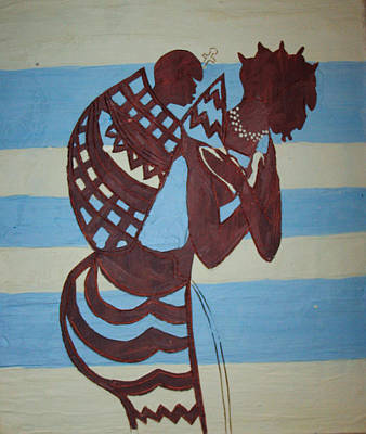 Ugandan Contemporary Art Painting - Madonna And Child by Gloria Ssali