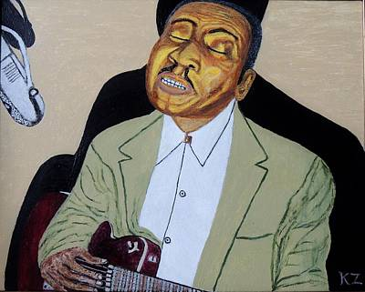 Painting - Mannish Boy. Muddy Waters. by Ken Zabel