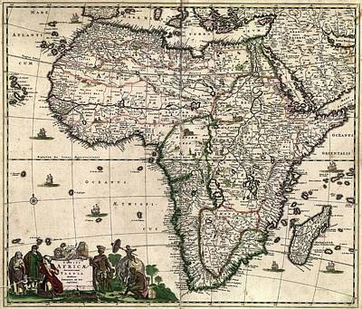 Libya Photograph - Map Of Africa by Library Of Congress, Geography And Map Division