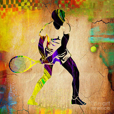 Mixed Media - Mens Tennis by Marvin Blaine