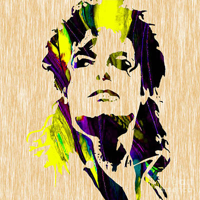 Michael Mixed Media - Michael Jackson Painting by Marvin Blaine