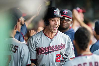 Photograph - Minnesota Twins V Cleveland Indians by Jason Miller