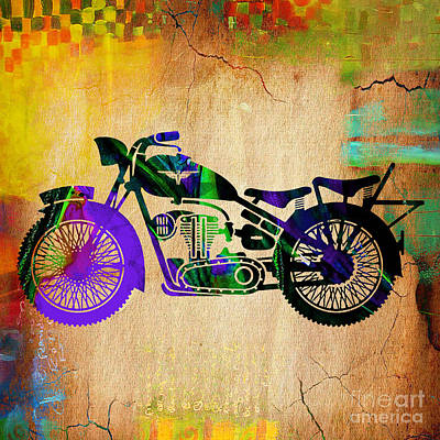 Motorcycle Mixed Media - Motorcycle by Marvin Blaine