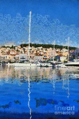 Painting - Mytilini Port by George Atsametakis
