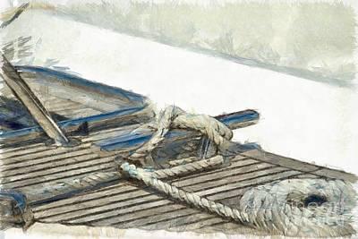 Tied Up Painting - Nautical Knots by George Atsametakis