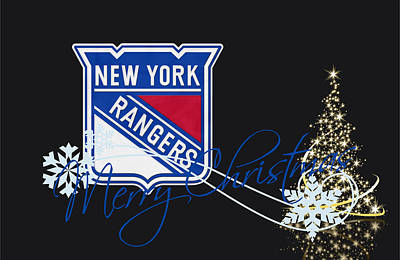 New Goals Photograph - New York Rangers by Joe Hamilton