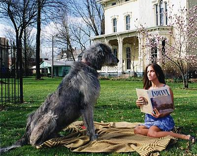 Irish Wolfhound Photograph - Noble Tall And Slim by R John Ferguson