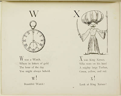 Edition Photograph - Nonsense Alphabets By Edward Lear. by British Library