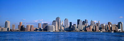 Twin Towers Nyc Photograph - Nyc, New York City New York State, Usa by Panoramic Images