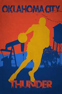 Oklahoma City Thunder Print by Joe Hamilton