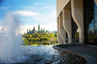 Gatineau Park Photograph - Parliament by Dennis Mccoleman