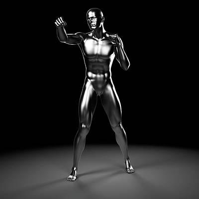 Person Boxing Art Print by Sebastian Kaulitzki