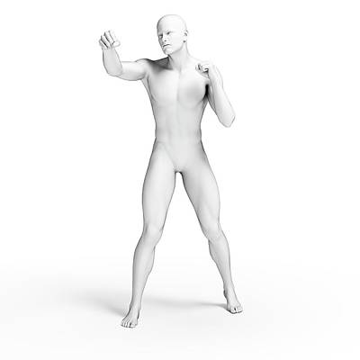 Person Punching Art Print by Sebastian Kaulitzki