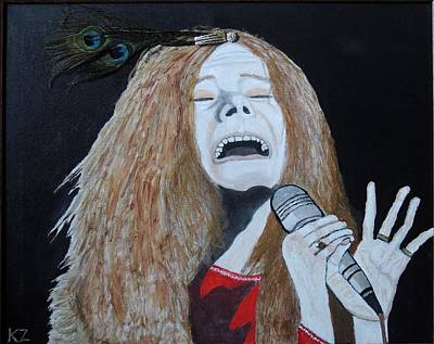Painting - Piece Of My Heart. Janis. by Ken Zabel