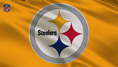 Offense Photograph - Pittsburgh Steelers Uniform by Joe Hamilton