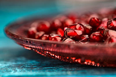 Plates Photograph - Pomegranate by Nailia Schwarz