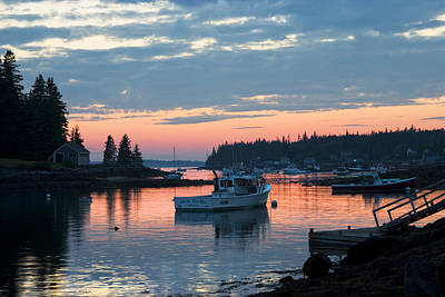 Photograph - Port Clyde Maine Fishing Boats At Sunset by Keith Webber Jr